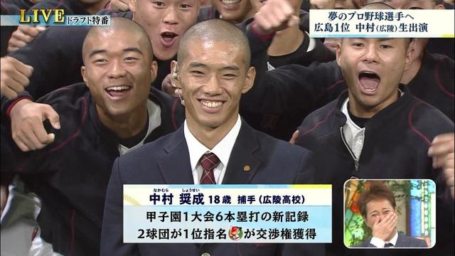 中村奨成ドラフト会議広陵高校 (4)
