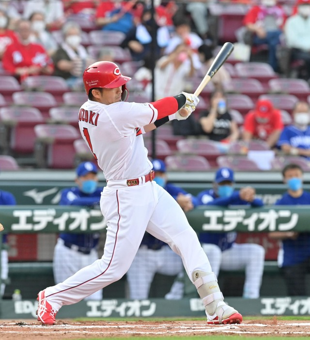 カープ鈴木誠也、走者一掃の逆転タイムリー2塁打で3打点