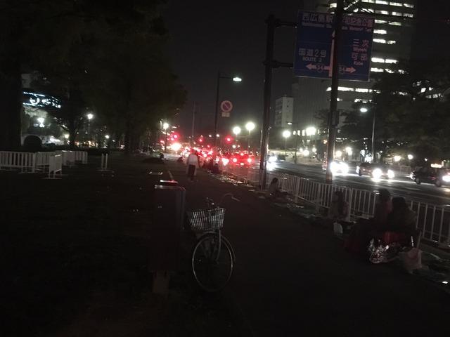 広島カープ_優勝パレード_場所とり_03