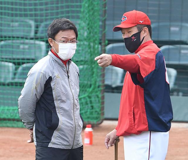 佐々岡監督河田コーチ