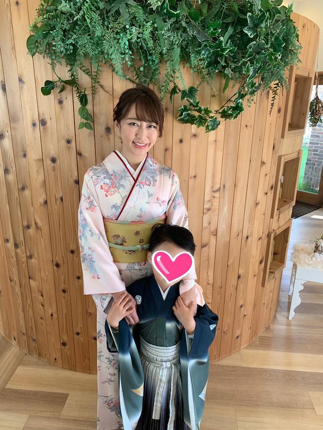 堂林枡田絵理奈3人の子供と『一五三』の記念撮影