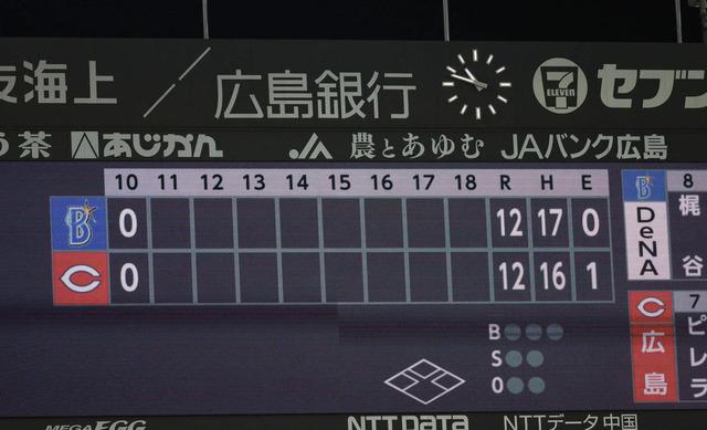 カープ12-12DeNA_引き分け