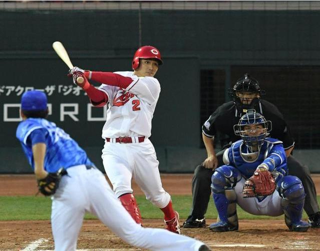 田中広輔先頭打者ホームラン2