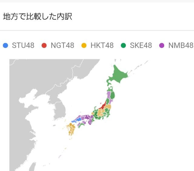STU48都道府県人気