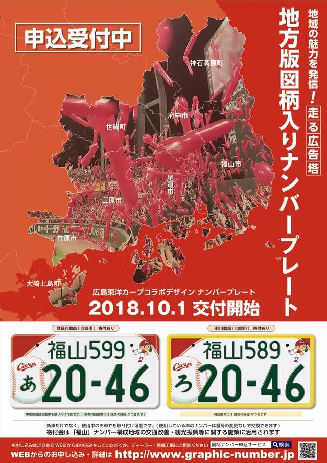 福山市カープナンバープレート