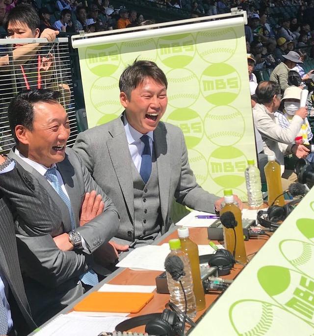 新井さん金本解説風船
