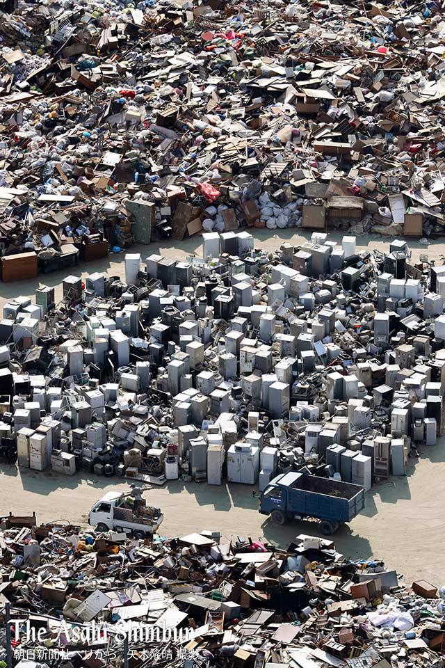 広島県三原市震災ゴミ