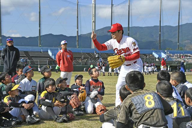 緒方孝市野球教室 (3)