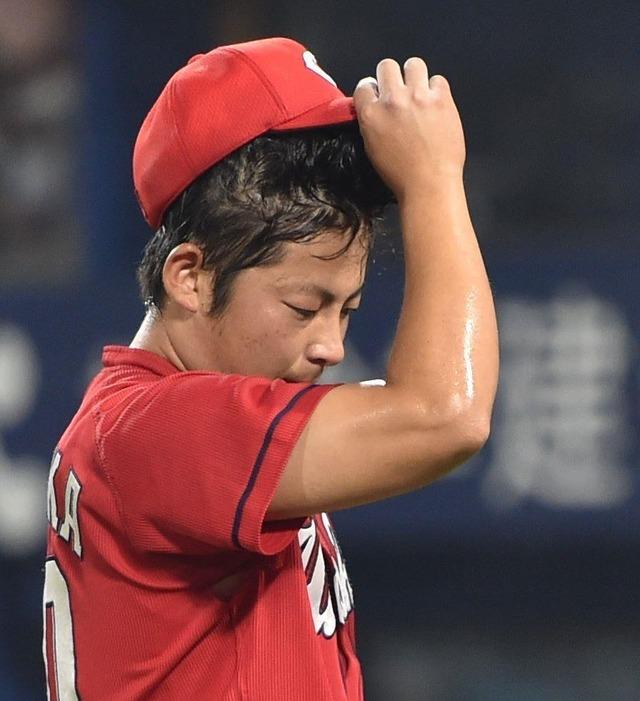 カープ一岡竜司逆転サヨナラ満塁ホームラン被弾広島横浜戦