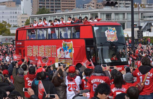 広島カープ優勝パレード2018日本一のみ開催