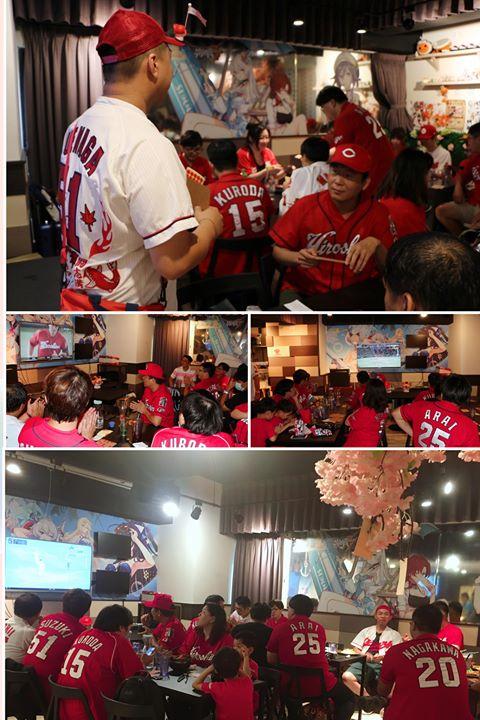 台湾のカープファンが広島巨人戦のパブリックビューイングを開催 (2)