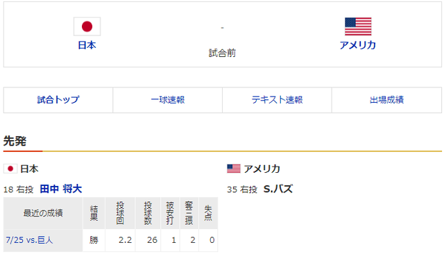 侍ジャパン_アメリカ_オリンピック