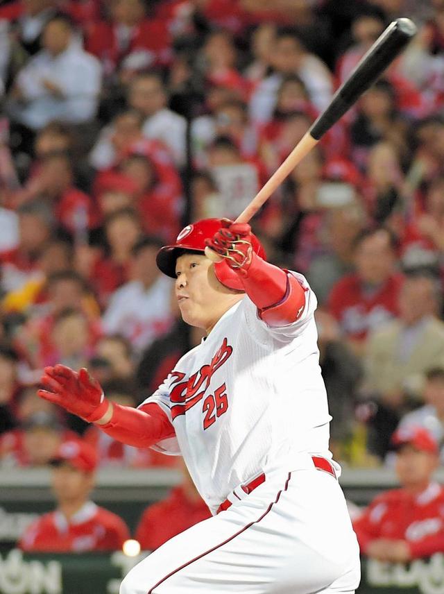 広島巨人CS代打新井貴浩同点タイムリー2塁打