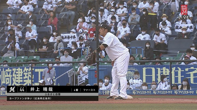 ロッテ井上晴哉が広島県のふるさと自慢「カープファンが多い」