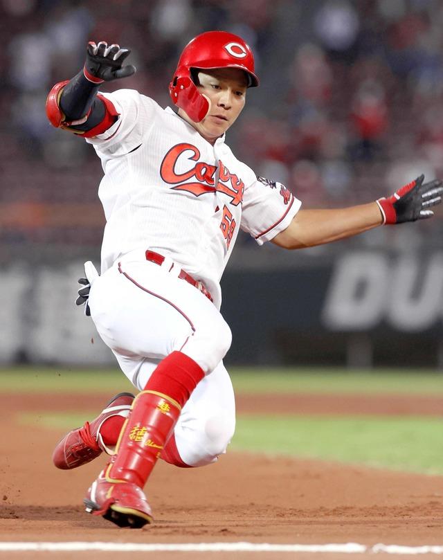 大盛穂はカープファンの希望 菅野からプロ初3塁打「とても自信になる」