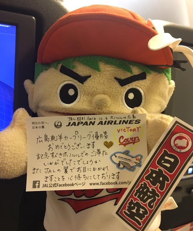 広島カープ優勝旅行_JAL_チャーター機
