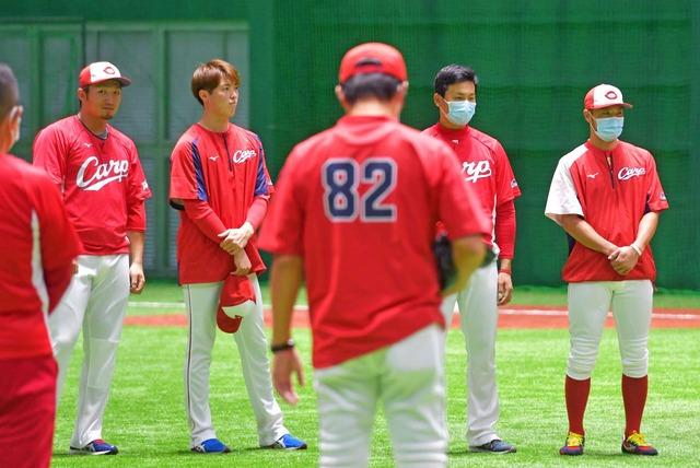 カープ佐々岡監督「侍ジャパンのように全員野球を」