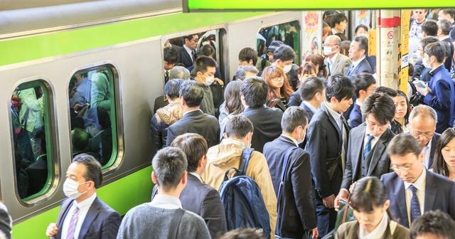 東京_満員電車_コロナウイルス対策