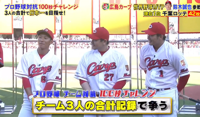 炎の体育会TV_カープ_100秒チャレンジ