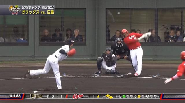 広島オリックス練習試合_14