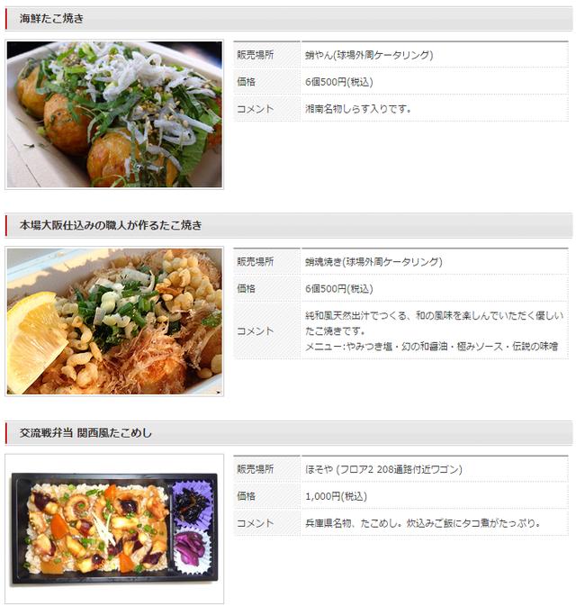 ロッテ阪神戦限定メニュー2