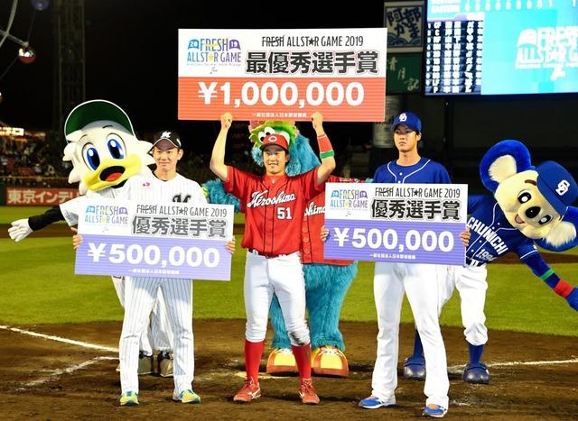 小園海斗MVP賞金100万円