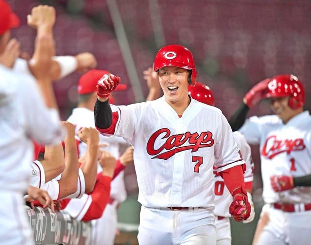 カープ堂林、8年ぶり規定打席到達!打率.292 13本 48打点 14盗塁