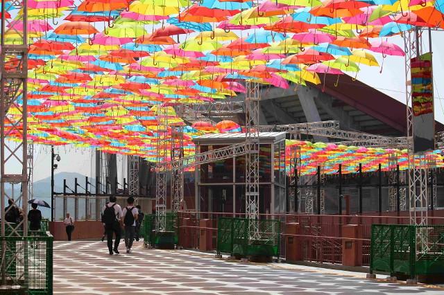 マツダスタジアム傘祭り