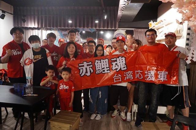 台湾のカープファンが広島巨人戦のパブリックビューイングを開催 (1)