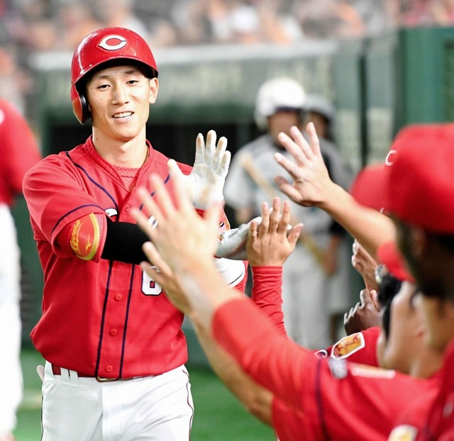 西川龍馬1番打者