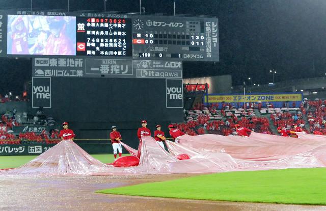 広島ジョンソン雨天強行苦言