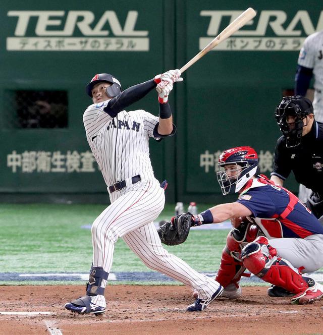侍ジャパン_鈴木誠也3塁打_日本アメリカ戦