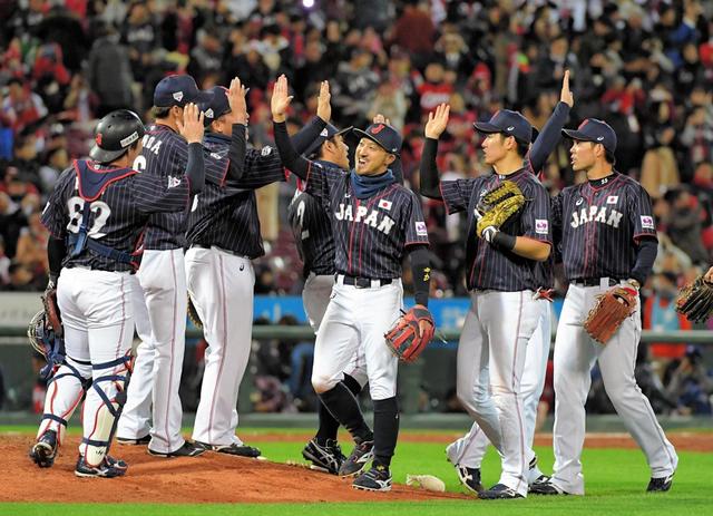 侍ジャパン菊池涼介スクイズ日米野球