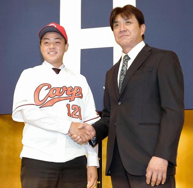 カープ畝章真お父さんをコーチと呼ぶ