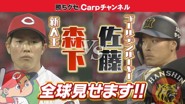 カープ森下暢仁vs阪神ドラ1佐藤輝明