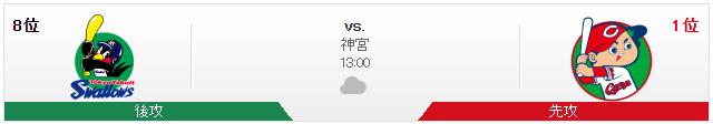 広島ヤクルト_オープン戦_神宮