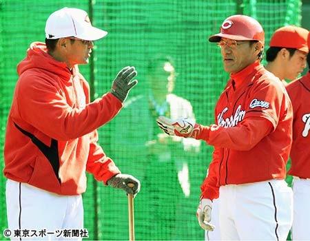 河田コーチ赤ヘル機動力野球