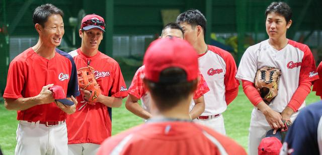 カープ赤松引退試合前円陣