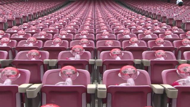 マツダスタジアム無観客試合カープ坊やの抱っこちゃん人形