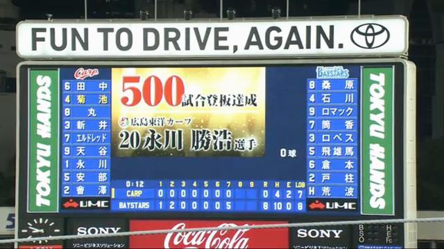 永川_500試合登板達成