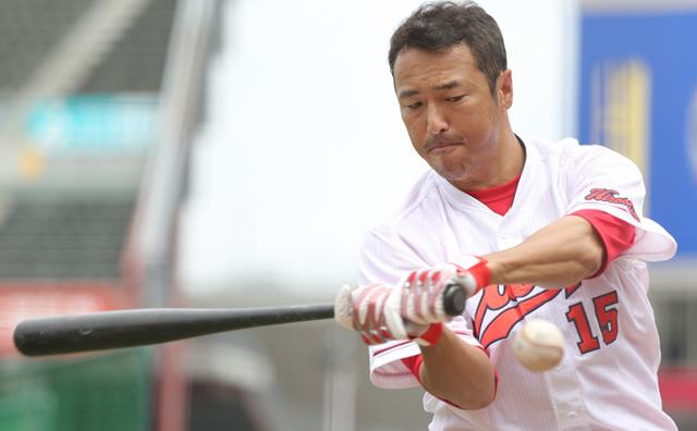 黒田博樹打撃練習