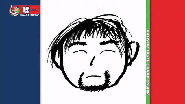 カープ西川龍馬野間画伯似顔絵Tシャツ_11