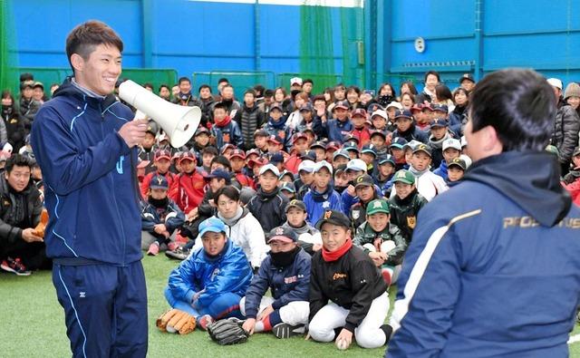 中村奨成広陵野球教室 (2)