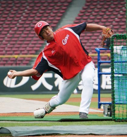 石井琢朗打撃コーチ打撃投手