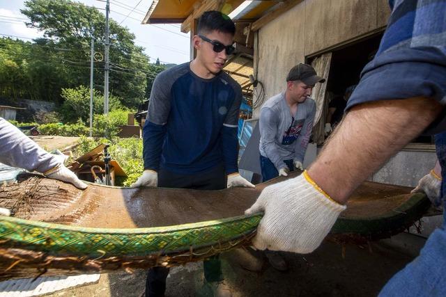 在日米軍西日本豪雨ボランティア