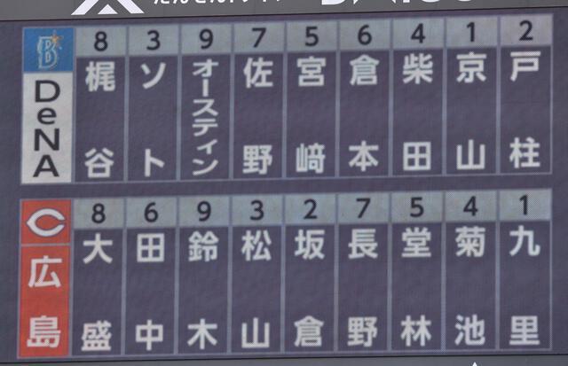 【カープ実況】鈴木誠也3番!松山竜平4番!