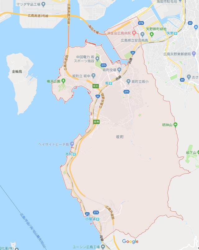 坂町_地図