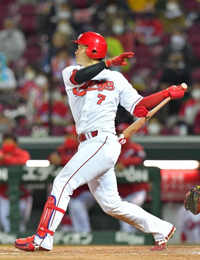 カープ堂林翔太、猛打賞2打点でキャリアハイ更新47打点!打率3割&20本塁打にも期待