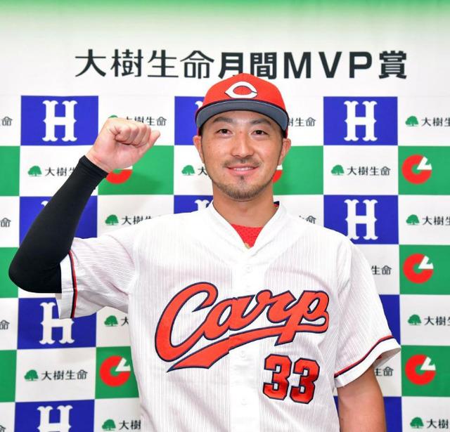 カープ菊池涼介月間MVP獲得