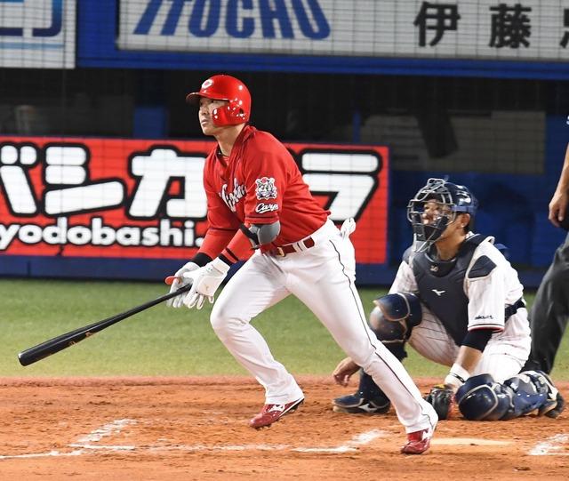 カープ長野久義、勝ち越しタイムリー2塁打